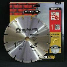 Piranha X38117 Hi-Tech 230mm Diamond Disc Blade. Concrete, Stone, Brick, Marble