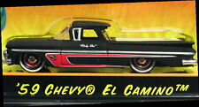 JADA 59 1959 CHEVY EL CAMINO ROAD RATS CUSTOM STYL RAT ROD HOT ROD CHEVROLET BLK
