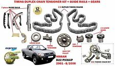 FOR NISSAN D22 PICKUP 2.5 133BHP 2001-2006 TIMING CAM CHAIN & GEAR KIT + GUIDES