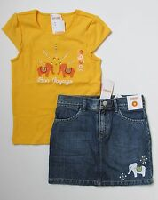 NWT Gymboree BATIK SUMMER Elephant Shirt & Denim Skirt 8 Bon Voyage Set Outfit