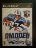 Madden NFL 2001 Sony PlayStation 2 WITH CASE & MANUAL BUY 2 GET 1 FREE