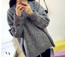 Comodo caldo maglione donna grigio morbido misto lana 4269