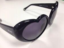 New Boxed/hard case MOSCHINO black Smoke Love heart sunglasses lolita cosplay