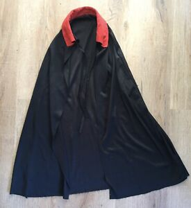 Black Cape With Red Collar Age 6-10