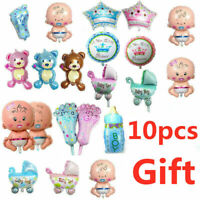 Baby Shower Foil Helium Balloon Baptism Girl Boy Twins Birthday Party Decoration