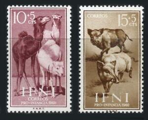 Ifni: 1960 Camels and Boars Semipostals (B46-B47) MNH