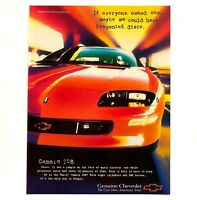 1997 Chevrolet Camaro Z28 Advertisement Chevy Muscle Car Prevent Disco Print AD