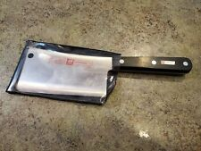 "HENCKELS Solingen Germany PROFESSIONAL S Cleaver w Case 31734-150 6"" Blade"