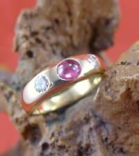 Fabelhafter Rubin Brillant Ring in 750 Gelbgold