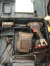 Bosch GDR14.4V-LI impact driver, 14.4v lithium-ion impact driver, 2x batts