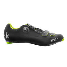 Fizik R4B Uomo BOA Men's Road Bike Shoes Carbon Black/Yellow 46 Damaged Packagin