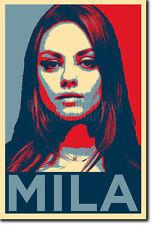 Mila Kunis Arte Foto Stampa (Obama Hope) POSTER REGALO
