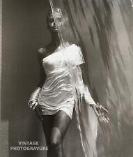 "1988 MATTED 16""X12"" KAREN ALEXANDER Female Model HERB RITTS Waterfall Photo Art"