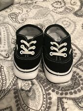 9216caa6b29 Baby VANS Classic black suede pram shoes trainers Size Infant 4 Unisex Soft  Sole