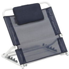 Adjustable Angle Back Rest Use in Bed Strong Comfortable Folding Support Blue