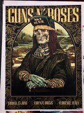Super Rare Guns N'Roses Poster Firenze rocks Limited 200 Original Numbered