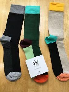 3 pairs HAPPY SOCKS mens socks UK 7 - 11 BNWT 3 pairs
