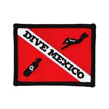 "Scuba Souvenir ""Dive Mexico"" Travel Patch Sport & Recreation Iron-On Applique"