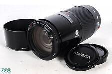 Minolta 70-210mm F4 Macro Alpha Mount Autofocus Lens With Caps and Hood