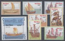 BATEAU A VOILE Vietnam 7 val 1 bloc de 1990