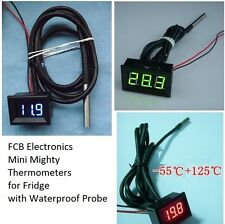 USA* Green LED Thermometer / DS18B20 Waterproof Probe Temperature Freezer Fridge
