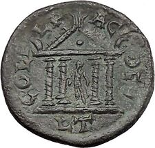 GORDIAN III 238AD Deultum Thrace APOLLO in TEMPLE Ancient Roman Coin i48635