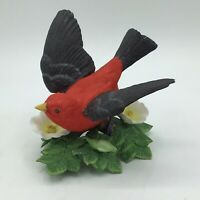 Lenox Fine Porcelain Scarlet Tanager Garden Bird Collection Figurine Japan