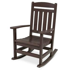 All Weather Porch Rocking Chair Indoor Outdoor Porch With 300Lb Weight Capacity