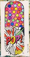 MR CLEVER ART SUPER POP ART PILL contemporary dots abstract street art deco pink