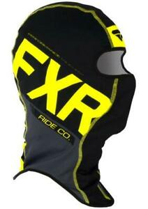 FXR BOOST Balaclava Face Mask Snow Snowmobile -BLACK CHARCOAL HI VIS - One Size