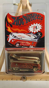 Hot Wheels Red Line Club RLC THANK YOU CUSTOMIZED VW DRAG BUS #12094/14,472 NIB