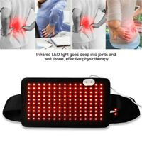 Infrared LED Light Therapy Wrap Muscle Pain Relief Body Care Waist Belt Brace GL