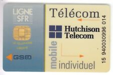 TELECARTE GSM SIM COLLECTOR .. FRANCE SFR HUTCHINSON MOBILE +N° CHIP/PUCE