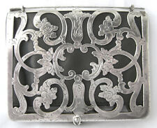 Victorian GermanSilver card case with Bosco leather interior