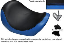 BLACK & LIGHT BLUE CUSTOM FITS HARLEY DAVIDSON V-ROD VRSC 01-09 FRONT SEAT COVER