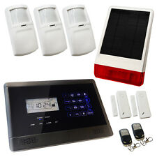 House Burglar Alarm Wireless Sentry Pro Solar Kit 2 Solar Powered Siren