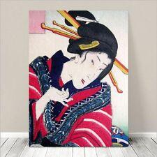"Vintage Japanese Geisha Art ~ CANVAS PRINT 24x16"" ~ Ukiyo-e Kunichika #131"