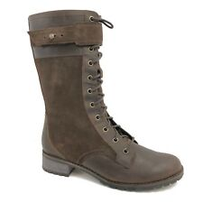 Timberland Women's Mid Zipper Brown Leather Tall Boots Style 6907B