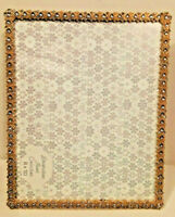"""8X10"""" Antique Vintage Style Gold Brass Crystals Jeweled Picture Frame"""