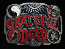 NH11172 VERY COOL VINTAGE 1992 **GRATEFUL DEAD** BAND MUSIC PEWTER BELT BUCKLE
