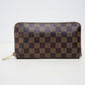 LOUIS VUITTON Damier Check Coated Canvas Zip-Around Checkbook Wallet