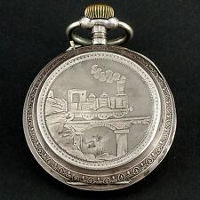 Eisenbahner Taschenuhr Silber 800 Eisenbahn railroad pocket watch silver