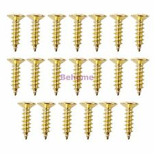 20 X Gold Scratch plate Pickguard Screws For Fender Strat Tele Guitar