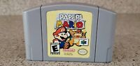 Paper Mario N64 Nintendo 64 Video Game Cartridge CLEAN TESTED & AUTHENTIC Lot !