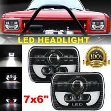 "2Pc 5x7"" 7x6"" LED Headlights Hi-Lo DRL Angel Eyes For Nissan Pickup Toyota Truck"