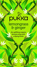 Pukka Tea Lemongrass Ginger Herbal 20 Teabags