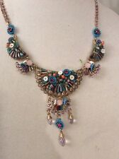 Betsey Johnson Weave & Sew Multi Woven Drama Necklace $125