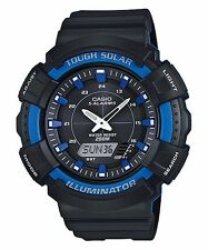 Casio New AD-S800WH-2A2 Black Blue Digital Analog Diver Mens Watch Solar AD-S800