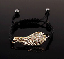 Exquisite Crystal Angel Wing Handmade Adjustable Gold Bracelet Fashion Jewelry