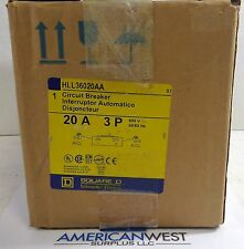 Square D HLL36025 Circuit Breaker 3P 25a 600v 100 kAIC HLL36025AA  S29450 NEW!